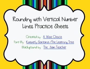 Rounding with Number Lines Practice