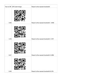 Rounding with QR Codes