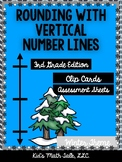 Rounding with Vertical Number Lines-Winter Edition