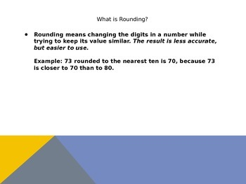 Rounding with Whole Numbers Power Point