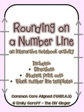Rounding with a Number Line (Interactive Notebook entry)
