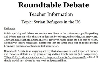 Roundtable Debate: Syrian Refugees in the US