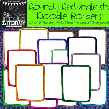 Roundy Rectangleish Doodle Borders: For Personal & Commercial Use