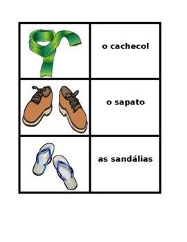 Roupa (Clothing in Portuguese) Concentration games