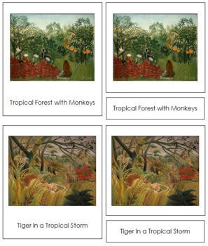 Rousseau (Henri) 3-Part Art Cards