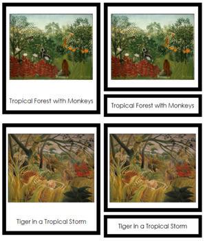 Rousseau (Henri) 3-Part Art Cards - Color Borders
