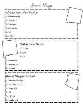 Route 66 Road-Trip Math