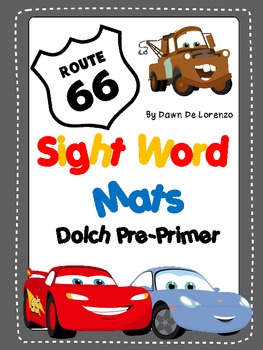 Route 66 Sight Word Mats {Dolch Pre-Primer Edition}
