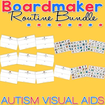 PECS Starter Kit Routine Bundle Pack - Boardmaker Visual Aids for Autism
