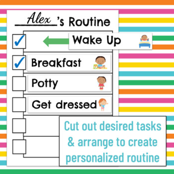 Routine Charts for home with 27 personalized tasks