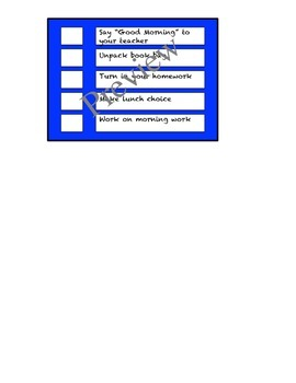 Routine Check List (editable)