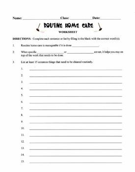 Routine Home Care Lesson