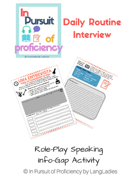 Routine Info Gap and Writing Activity