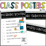 Routine Posters & Template {Editable}