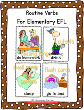 Routine Verbs for Elementary ELL