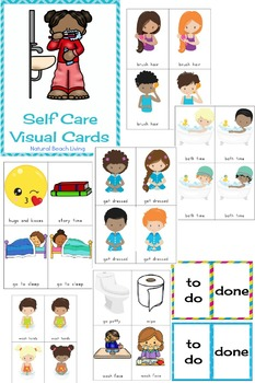 Routine Visual Schedule - Self Care Visual Printables