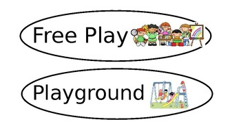 Routine cards for preschool FREE and EDITABLE