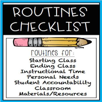 Routines Checklist