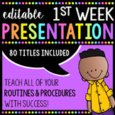 Routines & Procedures: Editable PowerPoint for Back to School