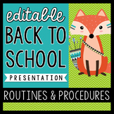 Routines & Procedures: Editable Tribal Themed PowerPoint for Back to School