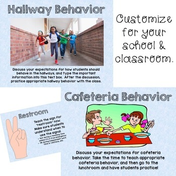 Routines, Procedures, & Rules: An editable PowerPoint for Back to School!