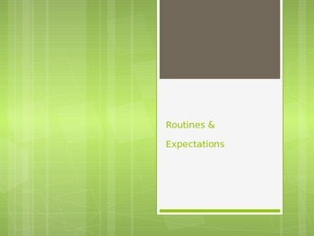 Routines and Expectations