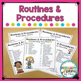 Routines and Procedures Checklist
