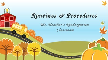 Routines and Procedures Power Point-Kindergarten