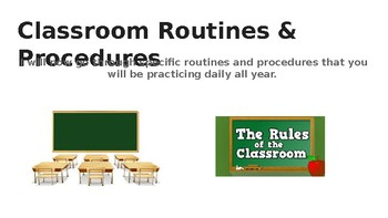 Routines and Procedures Powerpoint for Back to School