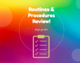 Routines and Procedures Review Game
