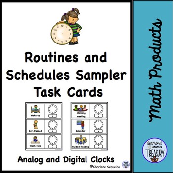 Routines and Schedules Task Cards Sampler