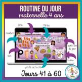 Routines du jour Maternelle 4 ans - jours 41 à 60