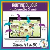 Routines du jour Maternelle 5 ans - jours 41-60