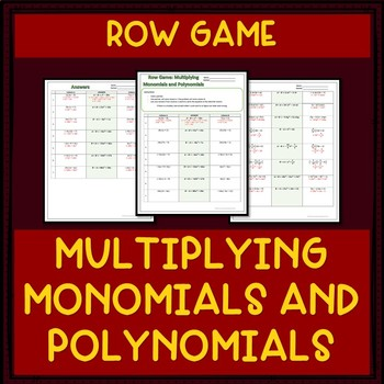 Multiplying Monomials by Polynomials | Row Game