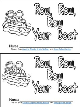 Row, Row, Row Your Boat Book, Poster, & MORE-  Kindergarten Nursery Rhymes