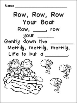 Row Row Row Your Boat Book Poster Amp More Kindergarten