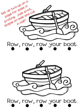 Row, Row, Row Your Boat Emergent Reader