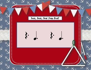 Row, Row, Row Your Boat - Nautical Folk Song with Rhythmic Accompaniment