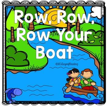 Row, Row, Row, Your Boat Nursery Rhyme Activities
