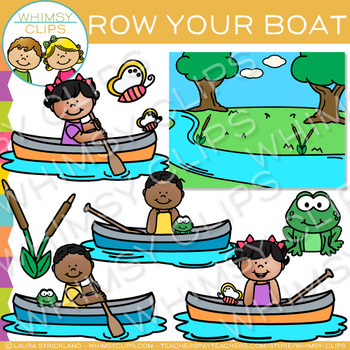Row, Row, Row Your Boat Nursery Rhyme Clip Art