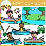 Row, Row, Row Your Boat Nursery Rhyme Clip Art
