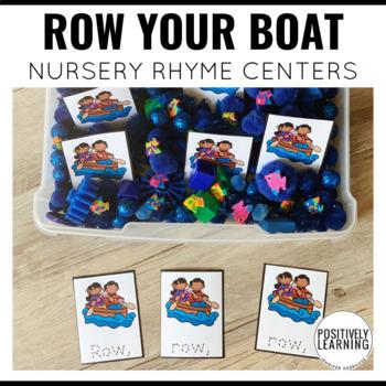 Row, Row, Row Your Boat  Nursery Rhyme Literacy Tasks