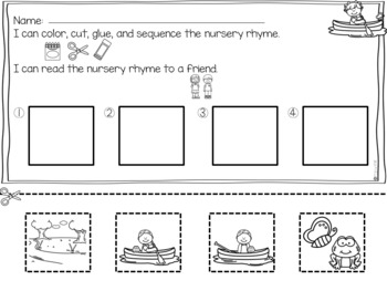 Row, Row, Row Your Boat Nursery Rhymes with a Home Connection and Stem Challenge