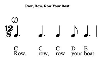 Row, Row, Row Your Boat - Rhythm, Pitch, Lyrics