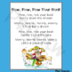Row, Row, Row Your Boat ~ Song Lyrics Page for Reading & S