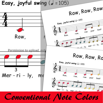 Row Row Row Your Boat - Swing - Boomwhackers® Sheet Music