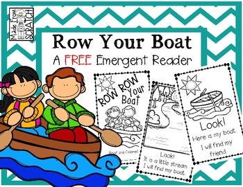 Row Your Boat-A FREE Nursery Rhyme Reader Retold with Dolch Words