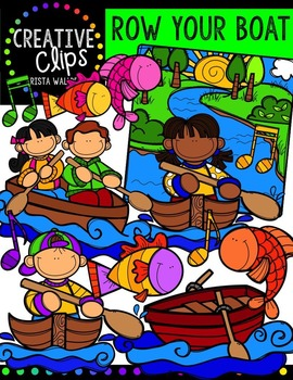 Row Your Boat {Creative Clips Digital Clipart}