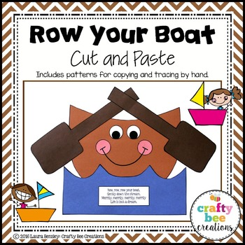 Row Your Boat Cut and Paste