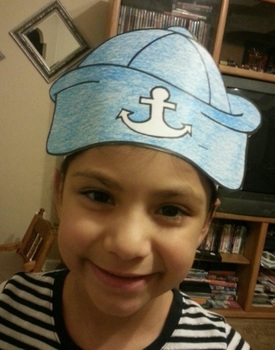 Row Your Boat Nursery Rhyme Hat ELA common core